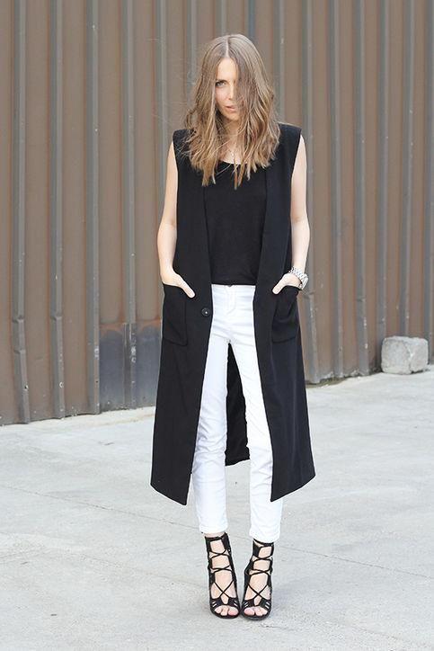 look con pantalón blanco