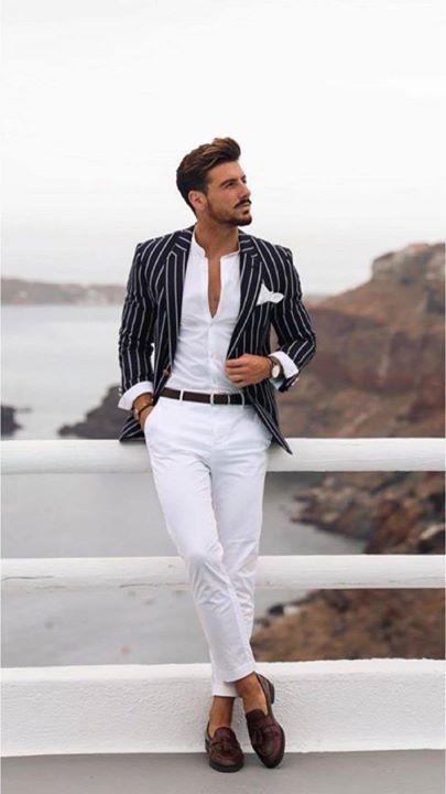 outfit casual hombre verano rayas