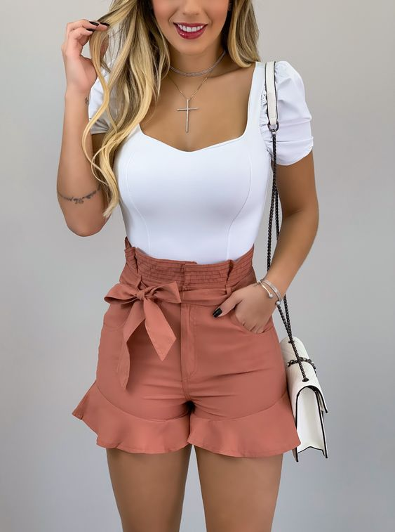 outfit casual rosa con top