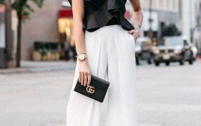 Outfit con pantalón blanco