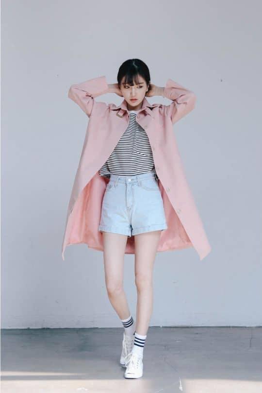 outfit coreanos rosa