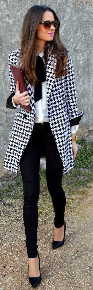 outfit negro pata gallo