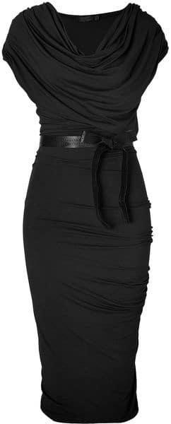 outfit negro vestido