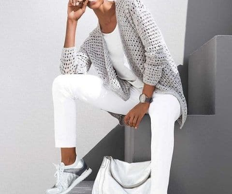 pantalón blanco sport