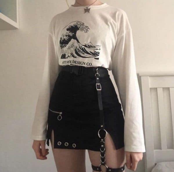 grunge egirl outfits