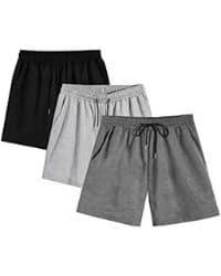 Short deportivo gris de algodon