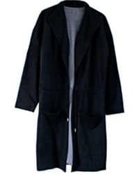 Abrigo negro oversize