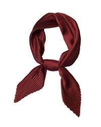 bufanda color vino de seda de raso