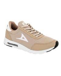 Tenis deportivos color beige y negro