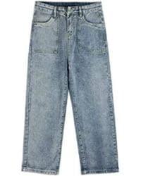 Jeans baggy deslavados