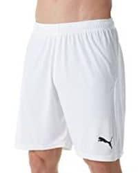Short deportivo blanco con detalle de puma bordado