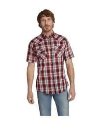 Camisa roja vaquera manga corta
