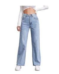Jeans tiro alto y rectos