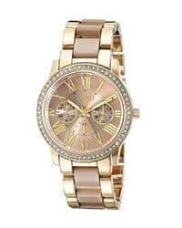 reloj oro rosa con pedreria
